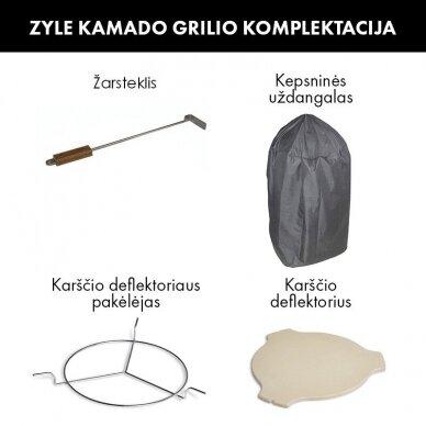 Kamado grilis su priedais Zyle Starter 39,8 cm 6