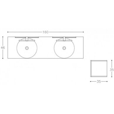 Vonios baldų komplektas Kamė Adagio 160 9