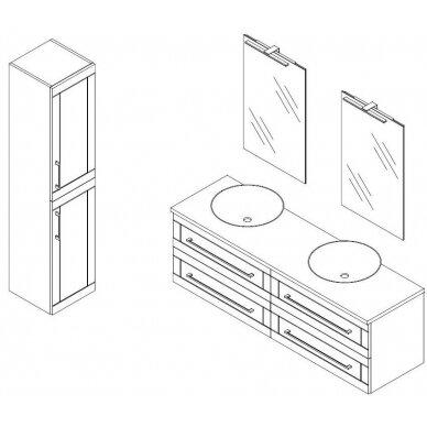 Vonios baldų komplektas Adagio 160 4 dalių 8