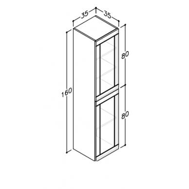 Vonios baldų komplektas Adagio 60 3 dalių 5
