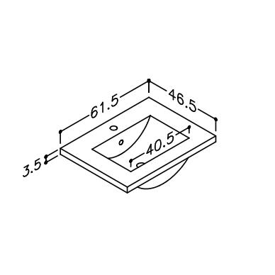 Vonios baldų komplektas Adagio 60 3 dalių 6