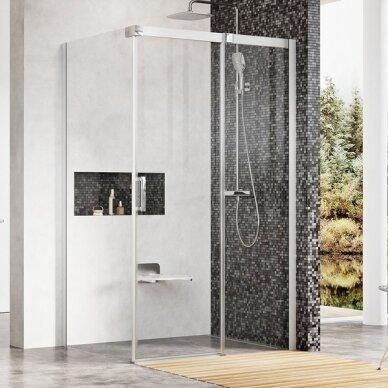 Kampinė dušo kabina Ravak Matrix MSDPS 100, 110, 120 cm