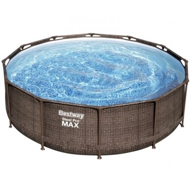 Karkasinis baseinas Bestway Frame pool 366x100cm 9in1 rattan 56709 3