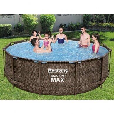 Karkasinis baseinas Bestway Frame pool 366x100cm 9in1 rattan 56709