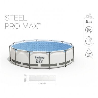 Karkasinis baseinas Bestway Frame Pool 549x122cm 11in1 56462 2