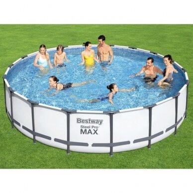 Karkasinis baseinas Bestway Frame Pool 549x122cm 11in1 56462
