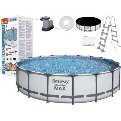 Karkasinis baseinas Bestway Frame Pool 549x122cm 11in1 56462 3