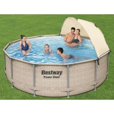 Karkasinis baseinas Bestway rack pool roof 396x107cm 5614V 3