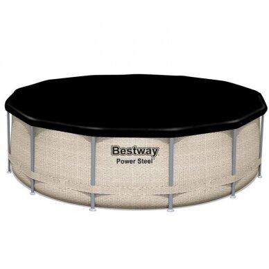 Karkasinis baseinas Bestway rack pool roof 396x107cm 5614V 6