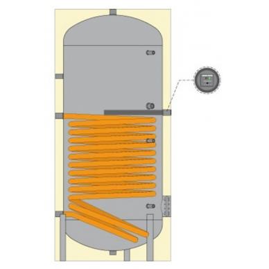 Karšto vandens šildytuvas Cordivari BOLLY 1 ST su vienu gyvatuku, 1000L (3103162321137) 2