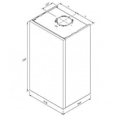 Katilas Panther Condens 20/26 KKV-CS/1, su momentiniu vandens ruošimu, 3,3 - 21,7 kW 4