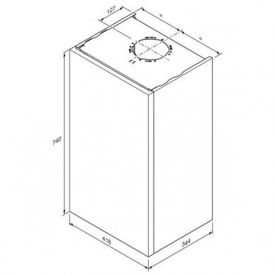 Katilas Panther Condens 25/31 KKV-CS/1, su momentiniu vandens ruošimu, 3,9 - 27,3 kW 4