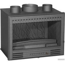 Ketinis židinio įdėklas Invicta Compact 520 C Turbo, su ventiliatoriumi (6674.94), 14 kW, 140 m², malkinis