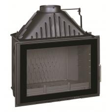 Ketinis židinio ugniakuras Invicta 700 Grand Angle, su tonuotu stiklu, malkinis, 12 kW