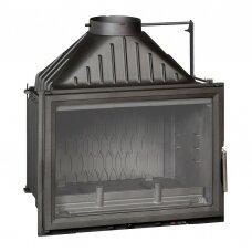 Ketinis židinio ugniakuras Invicta Grande Vision 700 su tiesiu stiklu (s.k.6270.44), 12 kW, 150 m², malkinis