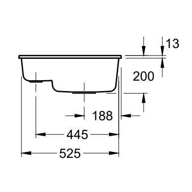 Keramikinė plautuvė Subway 60 XU, 54,5x44 cm (įv. spalvų) 4