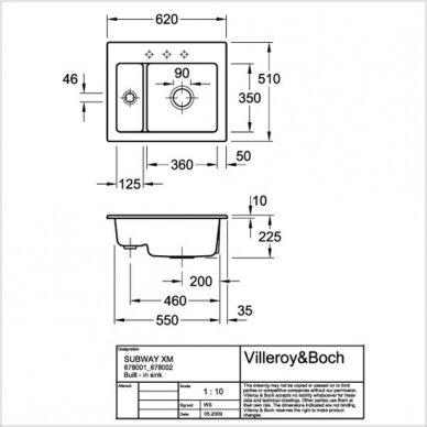 Keramikinė plautuvė Villeroy & Boch Subway 60 XM 2