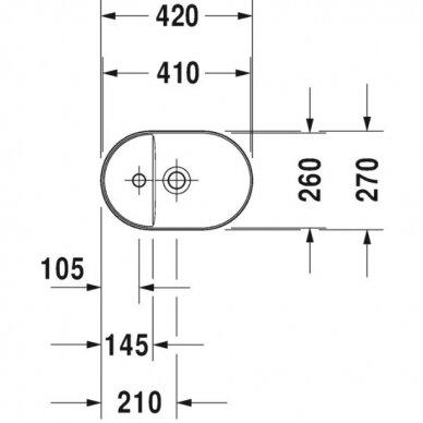 Praustuvas Duravit Luv 42 cm 3