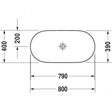Praustuvas Duravit Luv 50, 60, 70, 80 cm 9