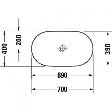 Praustuvas Duravit Luv 50, 60, 70, 80 cm 7
