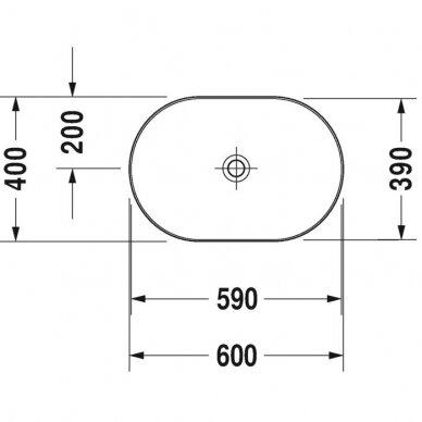 Praustuvas Duravit Luv 50, 60, 70, 80 cm 5