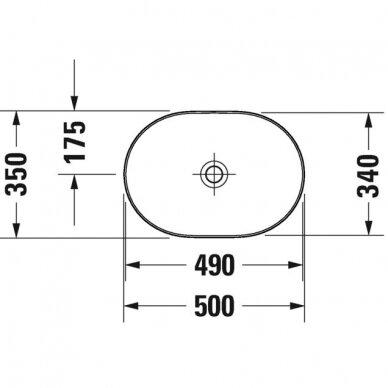Praustuvas Duravit Luv 50, 60, 70, 80 cm 3