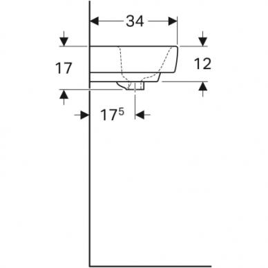 Praustuvas Geberit Selnova Compact 45 cm 5
