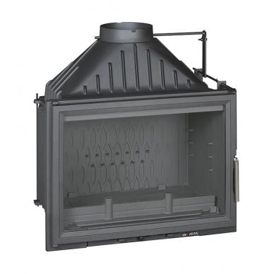 Ketinis židinio ugniakuras Invicta Compact su sklende, 18 kW, 145 m², malkinis