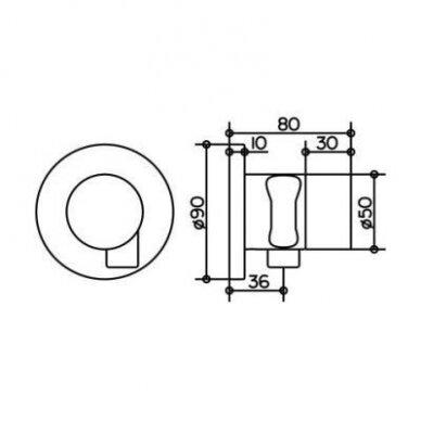 KEUCO IXMO uždarymo ventilis su žarnos jungtimi 2