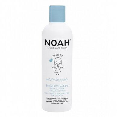 Vaikiškas šampūnas Noah su pienu ir cukrumi ilgiems plaukams 250 ml