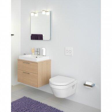 Klozetas Gustavsberg Hygienic Flush rimless ir soft close dangtis 2