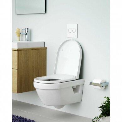 Klozetas Gustavsberg Hygienic Flush rimless ir soft close dangtis 3