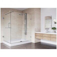 Kokią dušo kabiną pasirinkti - pusapvalę ar kvadratinę?