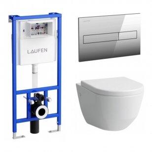 Komplektas: Laufen unitazas Pro New, potinkinis rėmas LIS CW1