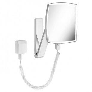 Kosmetinis veidrodis Keuco iLook move su apšvietimu kvadratinis 20 cm