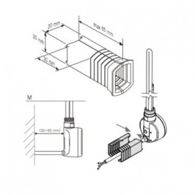 Kojelė kaitinimo elementui (tenui) MOA 5