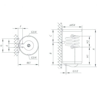 Kombinuotas vandens šildytuvas Gorenje TGRK 80 LN/RN 3