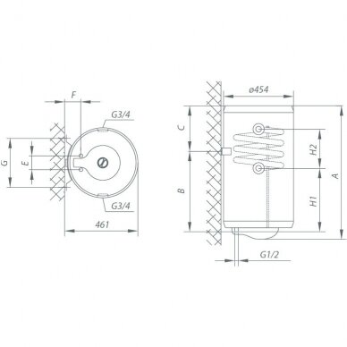 Kombinuotas vandens šildytuvas Gorenje TGRK 80 LN/RN 2