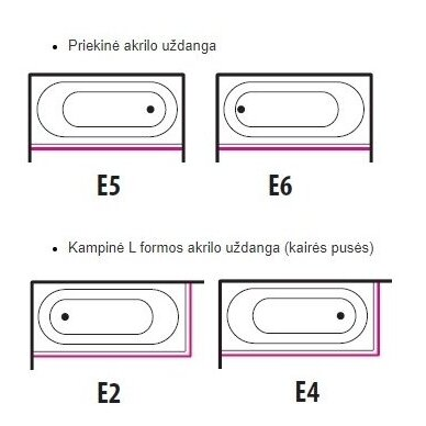 Komplektas: Akrilinė vonia Balteco Modul 17 4