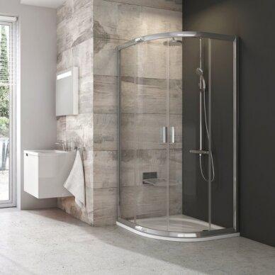 Komplektas: dušo kabina Ravak Blix BLCP4-90 + padėklas + sifonas 2