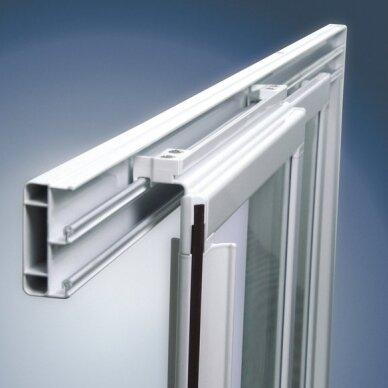 Komplektas: dušo kabina Ravak SKCP4 80, 90 cm su padėklu ir sifonu 3