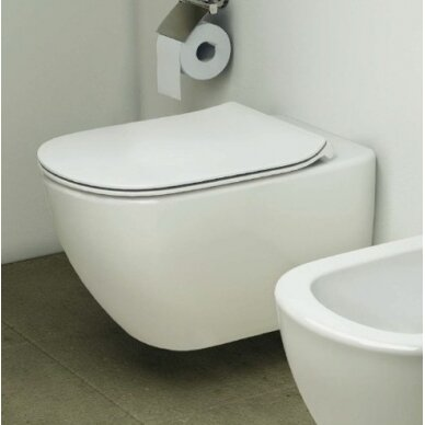 Komplektas: pakabinamas WC, Thin Soft Close dangtis, 3in1 rėmas 4