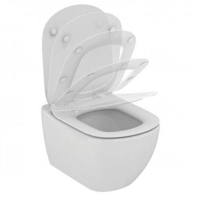 Komplektas: pakabinamas WC, Thin Soft Close dangtis, 3in1 rėmas 5