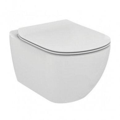 Komplektas: pakabinamas WC, Thin Soft Close dangtis, 3in1 rėmas 2