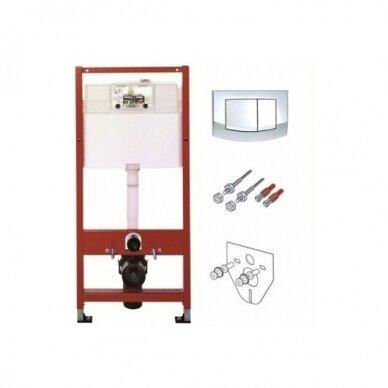 Komplektas TECE potinkinis WC rėmas +Pakabinamas WC 2