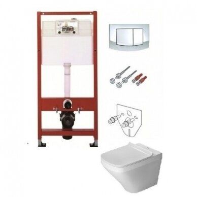 Komplektas TECE potinkinis WC rėmas +Pakabinamas WC