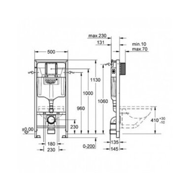 Potinkinis WC komplektas Grohe Rapid SL 6in1 3