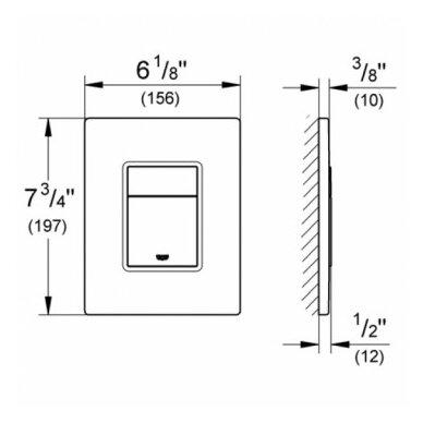 Potinkinis WC komplektas Grohe Rapid SL 6in1 5