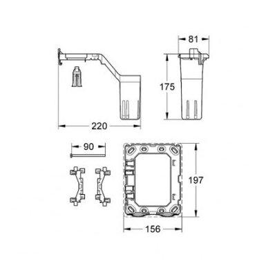 Potinkinis WC komplektas Grohe Rapid SL 6in1 7