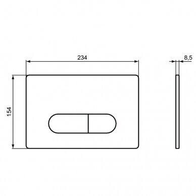 Komplektas: WC rėmas Ideal Standard Prosys 120 M su klavišu, klozetas su dangčiu 7